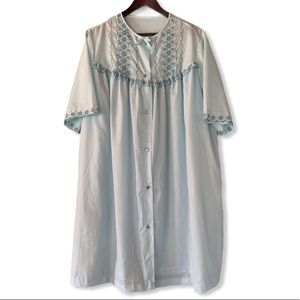 Gilead Vintage Embroidered Dressing Gown Housecoat